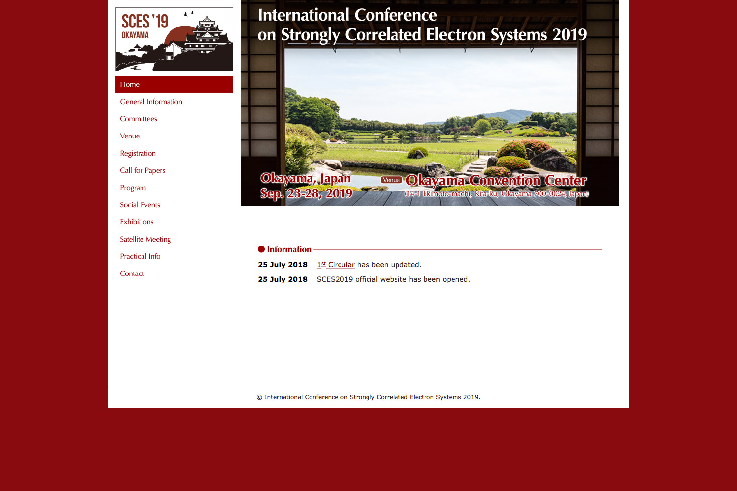 International Conference on Strongly Correlated Electron Systems 2019